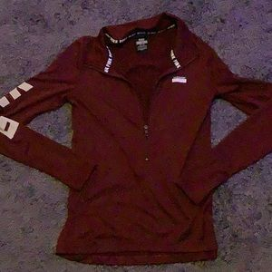 VS PINK maroon ultimate half zip